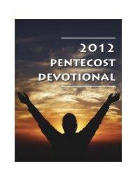 2012 pentecost devotional - Purcellville Baptist Church