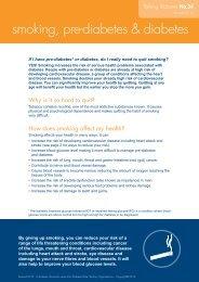 smoking, pre-diabetes & diabetes - Australian Diabetes Council