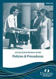 Unicity Global Markets GmbH Policies & Procedures