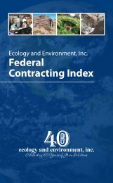Federal Contracting Index (502.04 KB) - Ecology & Environment