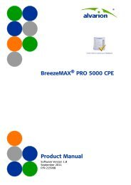 BreezeMAX ® PRO 5000 CPE Product Manual - Alvarion