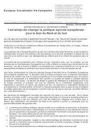Il est temps de changer la politique agricole européenne pour ... - CNA