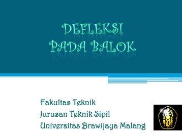 lendutan balok - Universitas Brawijaya