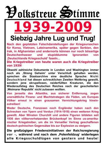 Flugblatt AFD Siebzig Jahre Lug und Trug