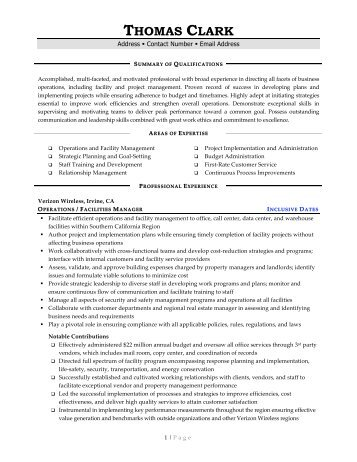 Top Facilities Manager Resume Samples ...  Facility Manager Resume