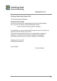 Handling 2012 nr 46 Göteborgs Stads årsredovisning för 2011 Till ...