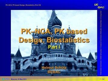 PK-NCA, PK based Design, Biostatistics - BEBAC • Consultancy ...