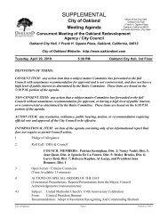 Meeting Agenda - City of Oakland