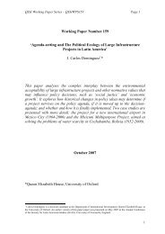 'The Political Ecology of Large Infrastructure Projects in Latin America'