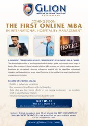 ThE firST onlinE MBA - Les Roches International School of Hotel ...