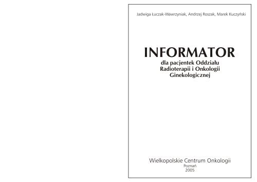 Informator Wielkopolskie Centrum Onkologii