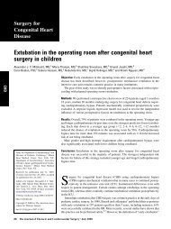 Extubation in the operating room after congenital heart surgery in ...