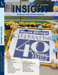 Fall 2012 - The University of Akron : Wayne College