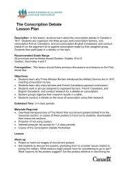 The Conscription Debate Lesson Plan - Canadian War Museum