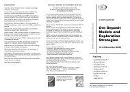 Ore Deposit Models and Exploration Strategies - Sydney Mineral ...