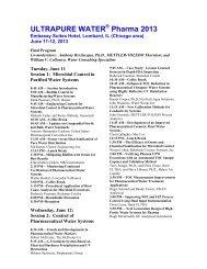 ULTRAPURE WATER Pharma 2013 - I-Newswire