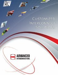 Customized Interconnect Solutions brochure - Advanced ...