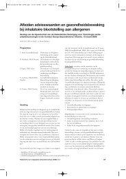 Afleiden advieswaarden en gezondheidsbewaking bij inhalatoire ...