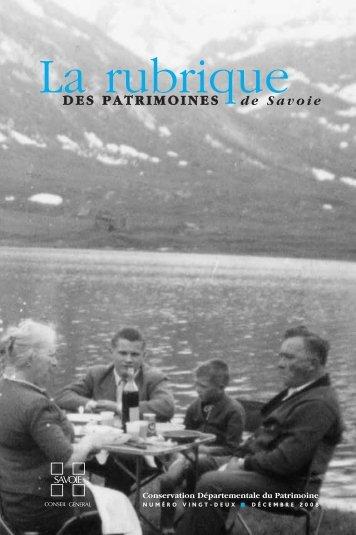 La rubrique - Conseil Général de Savoie
