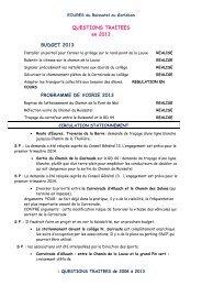 Télécharger les questions traitées de 2008 à 2013 - Site officiel de ...