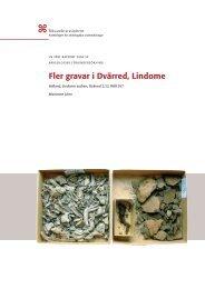 UV Väst Rapport 2004:30 - Riksantikvarieämbetet