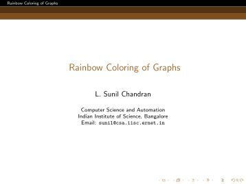 Rainbow Coloring of Graphs - Microsoft Research