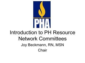 2007 Symposium Intro to PHRN - PHA Online University