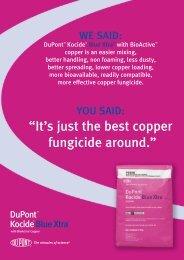"""it's just the best copper fungicide around."" - Agtech.com.au"