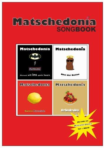 MATSCHEDONIA SONGBOOK