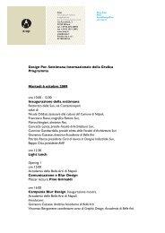 Design Per. Settimana Internazionale della Grafica Programma ...