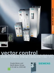 SIMOVERT MASTERDRIVES Vector Control - Industry