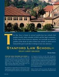 STANFORD LAW SCHOOL— - The Bar Association of San Francisco