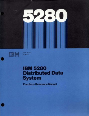 IBM 5280 Distributed Data System - Index of
