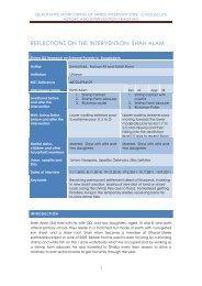 qualitative monitoring of shiree interventions: cms5 (s) life history ...