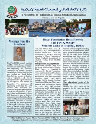 FIMA Newsletter June-August 2012 - Federation of Islamic Medical ...