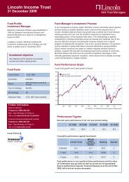 Lincoln Income Trust - Lincoln Financial Group