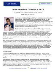 Herbal Support and Prevention of the Flu - True-Wellness