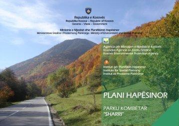 "plani hapësinor - parku kombëtar ""sharri"" - ammk-rks.net"