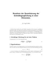 Resultate der Quantisierung der ... - lamp.tugraz.at
