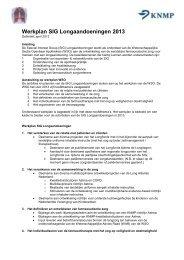 Werkplan 2013 - Knmp