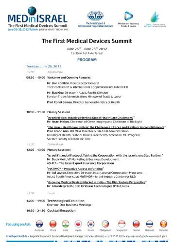 The First Medical Devices Summit