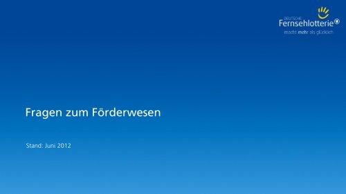 KГјndigung Deutsche Fernsehlotterie