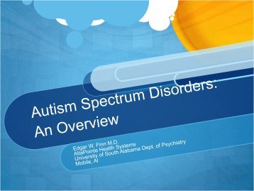 Treatment Perspectives in Autistic Disorder
