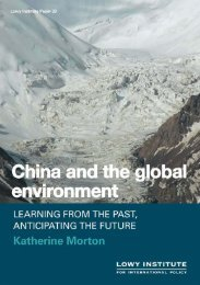 China and the global environment - Asialink