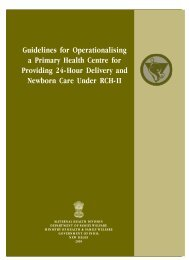 Guidelines for Operationalising A Primary Health ... - NRHM Manipur
