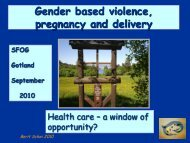 Gender based violence, pregnancy and delivery - SFOG