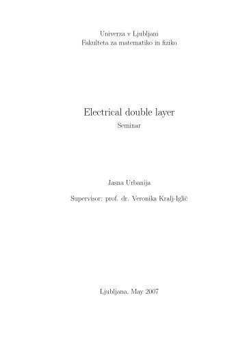 Electrical double layer - F9