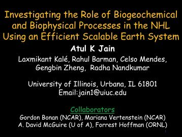 Investigating the role of biogeochemical and biophysical processes ...