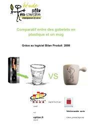 Comparatif entre un mug et des gobelets en plastique - (CCI) du ...