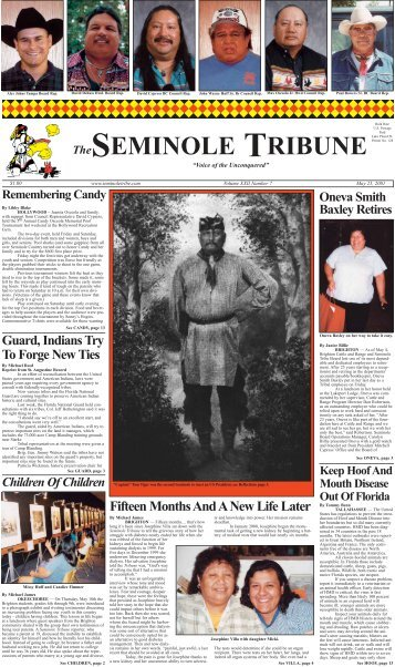 Fifteen Months And A New Life Later - Seminole Tribe of Florida